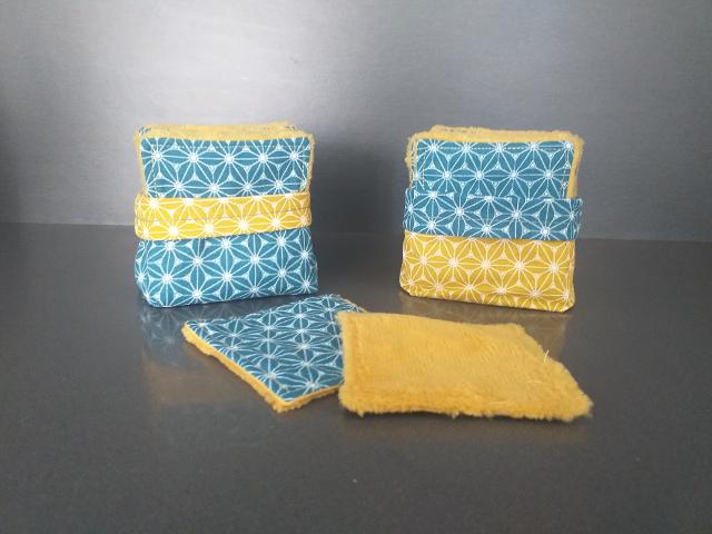 Lingettes lavables zéro dechets