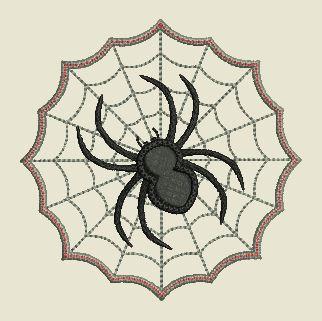 Motif broderie lingette araignée