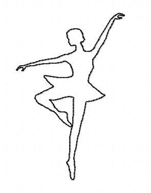 Motif broderie danseuse 3 redwork