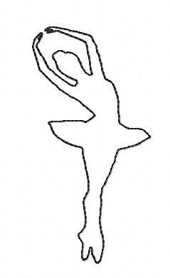 Motif broderie danseuse 4 redwork