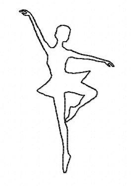 Motif broderie danseuse redwork