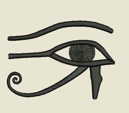 Motif broderie oeil egyptien