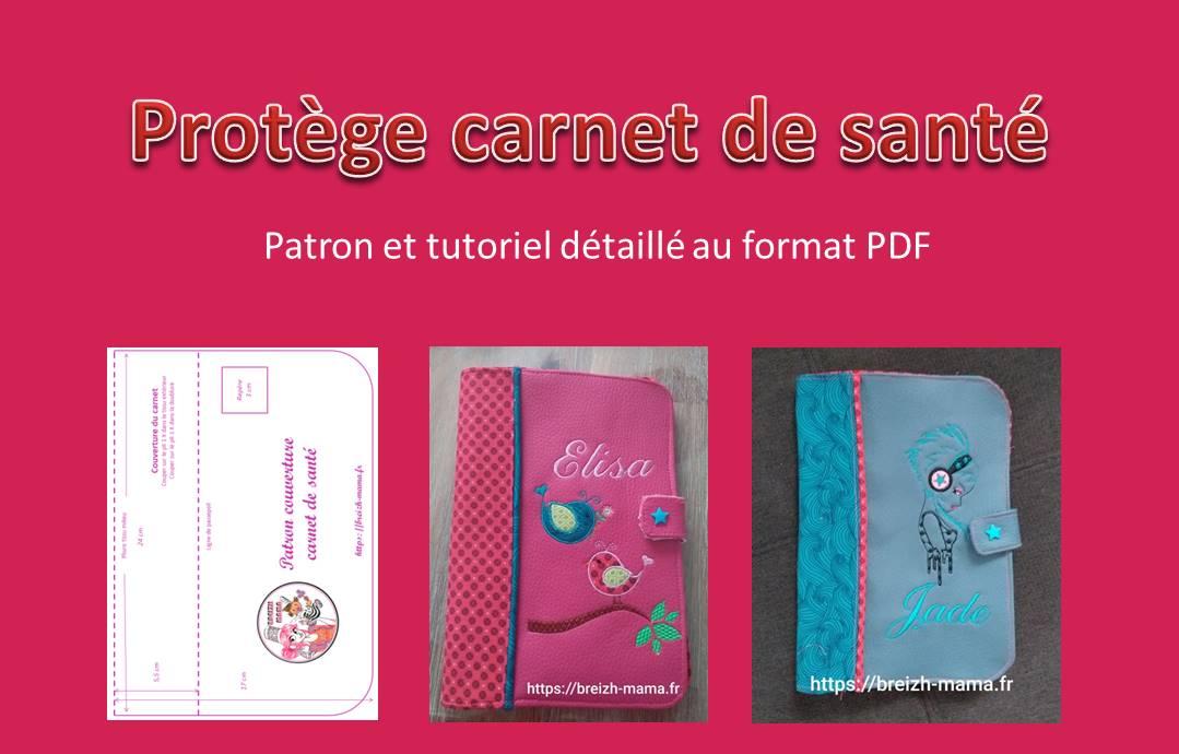 Protège carnet de santé - Patron & Tuto