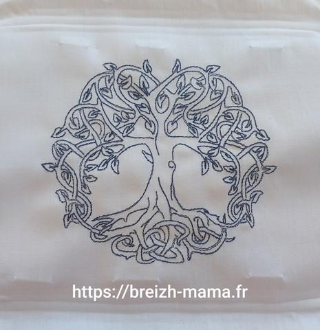 Motif broderie arbre de vie