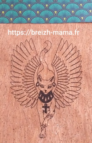 Motif broderie chat Anubis 2