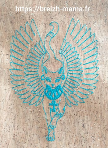 Motif broderie chat Anubis 3