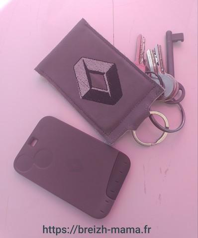 Porte clé carte de contact voiture 7