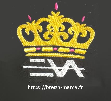 Motif broderie - Couronne Eva Queen