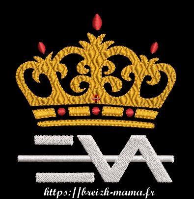 Motif broderie couronne eva queen