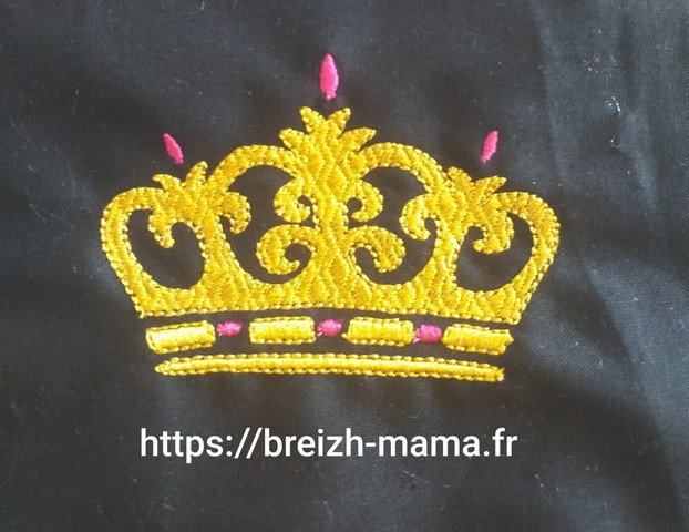 Motif broderie Couronne 1