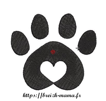 Motif broderie Love Dog 3