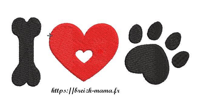 Broderie Love Dog4