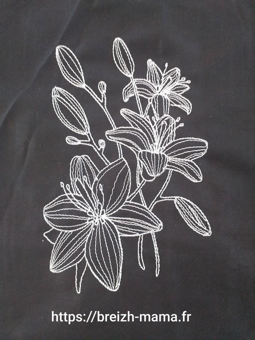Fleur de Lys brodées