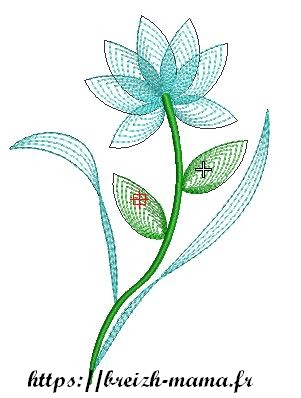 Motif broderie Lotus