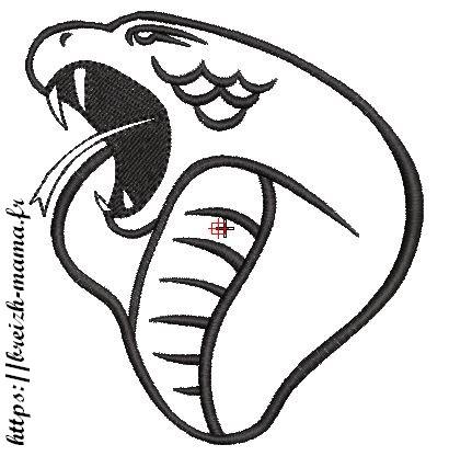 Motif broderie Cobra
