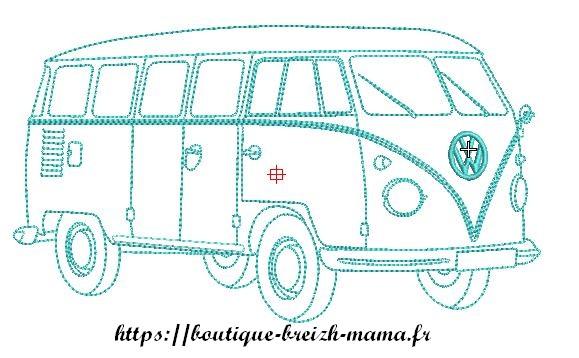 Motif broderie Combi Wagen