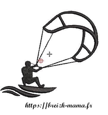 Motif broderie kite surf
