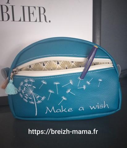Motif broderie Make a wish Pissenlit