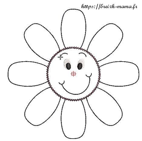 Appliqué fleur