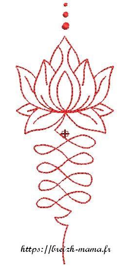 Motif broderie lotus redwork2