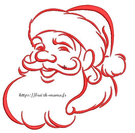 Motif broderie Père Noël 4