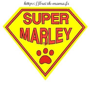 Motif broderie Super Marley