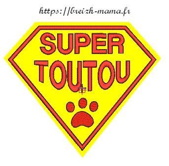 Motif broderie Super Toutou