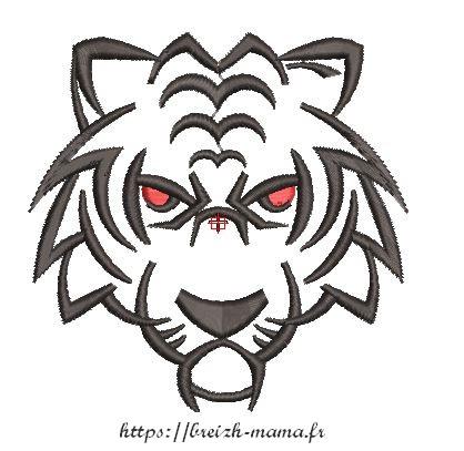 Motif broderie tigre