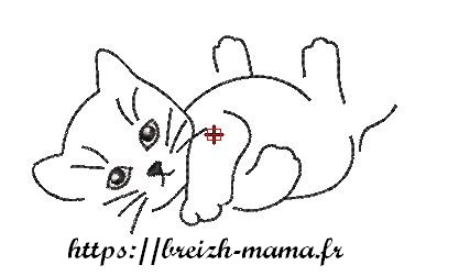 Motif broderie chat