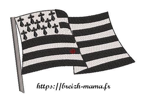 Motifs broderies breton drapeau breton Gwenn Ha Du
