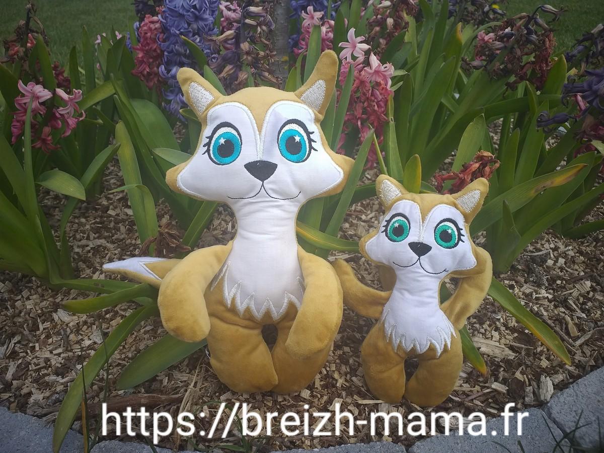 Maman et bébé renard ITH