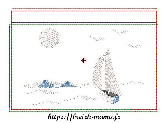 Motif trousse ITH bateau