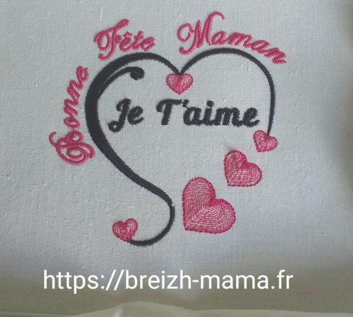 Motif Broderie bonne Fete Maman