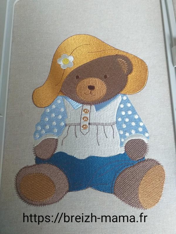 Motif broderie Nounours Teddy Bear
