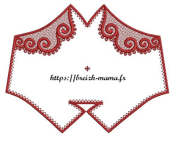 Motif broderie Masque ITH & Arabesques FSL