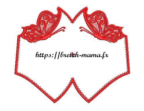 Motif broderie Masque ITH & Papillons FSL