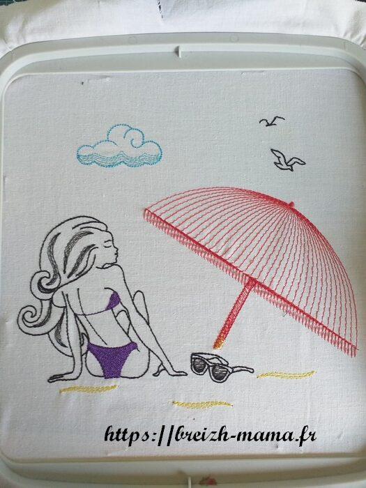 Motif broderie plage femme-1