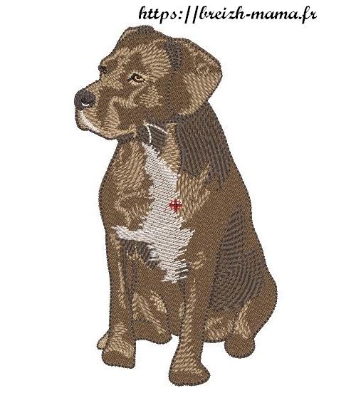 Motif broderie tet cane corso labrador
