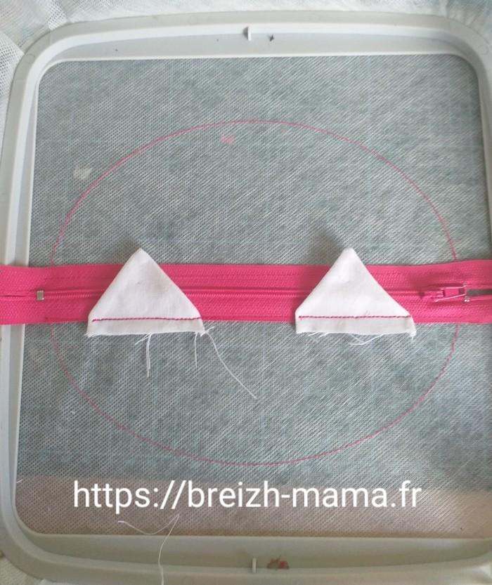 3 - couture de fixation des dents