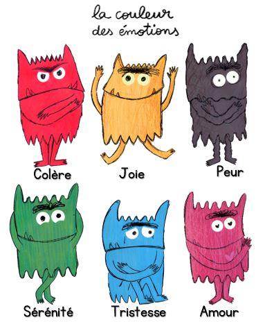 Motifs broderie ITH 7 doudous monstres couleur émotion