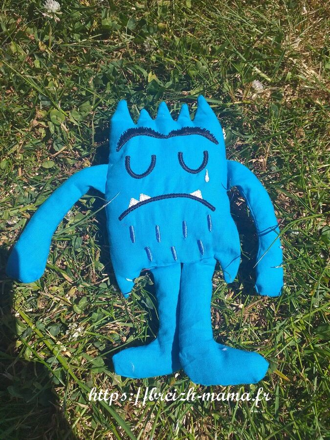 Monstre emotion ITH Bleu Tristesse