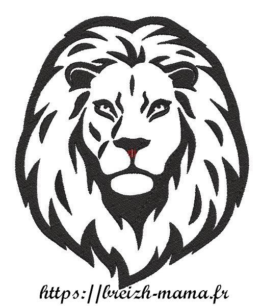 Motif broderie Lion