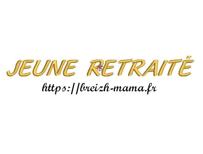Motif broderie texte Jeune retraite2