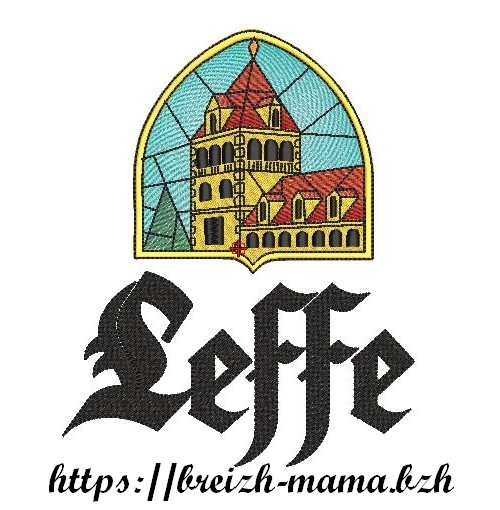 Motif broderie Abbaye Leffe