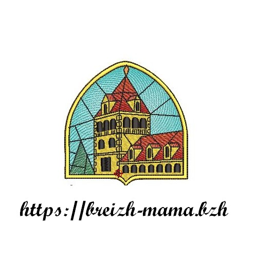 Motif Broderie Abbaye Vitrail