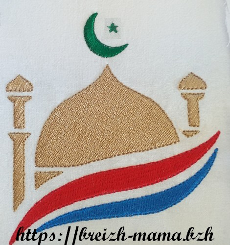 Motif broderie Islam Mosquée