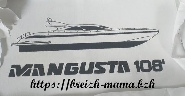 Motif broderie Yacht Mangusta
