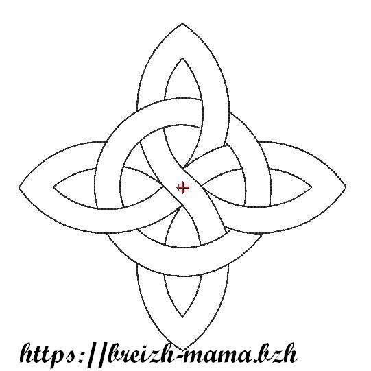 Motif broderie croix celtique entrelacée