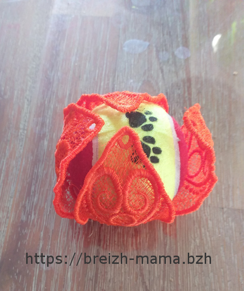 Motif broderie Citrouille FSL 3D