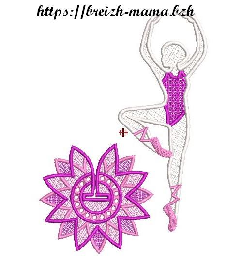 Motif broderie Danseuse FSL 2